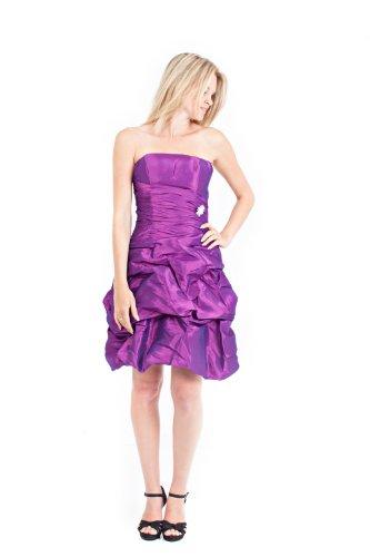 knielang AvaMia Violett Taft Abendkleid Festliches Länge Kleid Cocktailkleid qTBqwYP