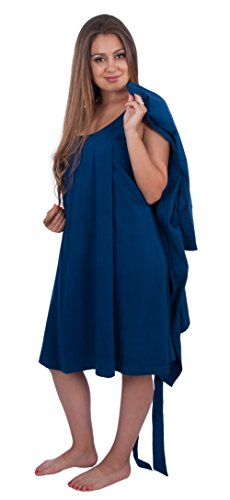 Sleeveless Nursing Sleepwear Nightgown with Matching Robe (Large, (Bella Robe)