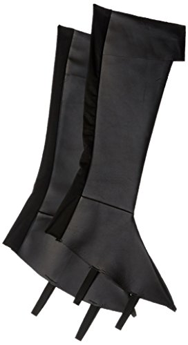 Charades Boy's Costume Boots Accessory, Black, Medium/Large - Adult Vinyl Pirate Boot Tops