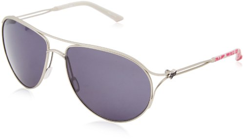 Fox Women's The Stella Aviator Sunglasses,Satin Silver & Pink - Head Sunglasses Fox