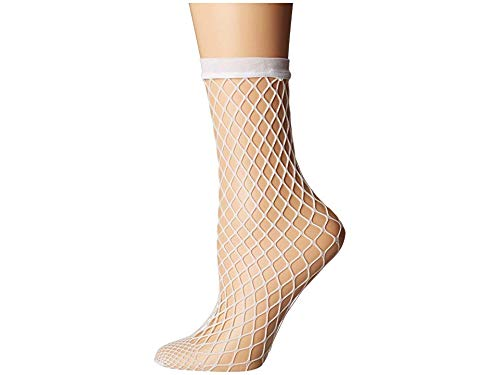 Wolford Women's Tina Summer Net Sock White Small