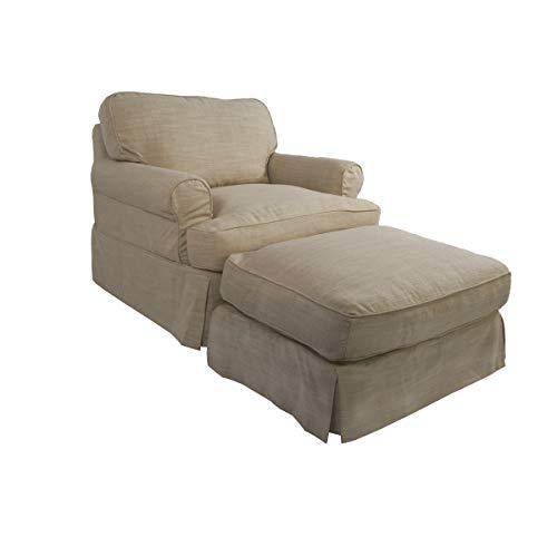 Sunset Trading SU-117620-30-466082 Horizon Chair and Ottoman, Linen