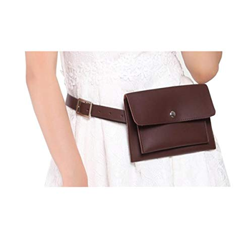 Women Fanny Pack Belt Bag Waist Pouch With Removable Leather Belt ()