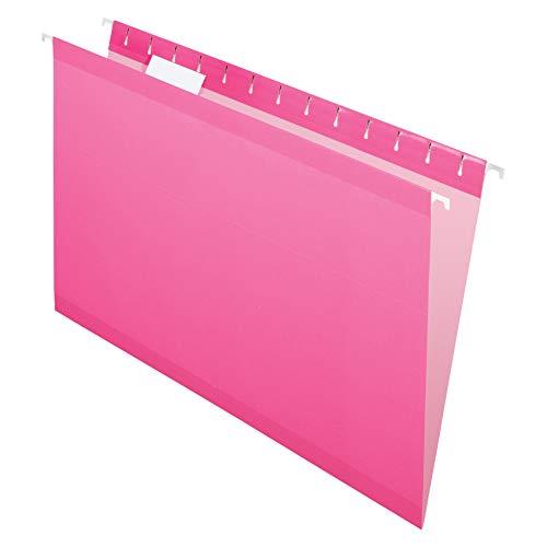 Pendaflex 04153 1/5 PIN Reinforced Hanging Folders, Legal Size, Pink, 1/5 Cut, 25/BX (4153 1/5 PIN) ()