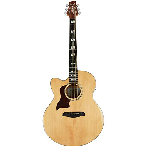Sawtooth Maple Series Left-Handed Acoustic-Electric Cutaway Jumbo Guitar