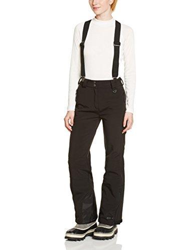 nero donna bordi Killtec e con bretelle rimovibili Pantaloni softshell rinforzati ZqpEqwSz