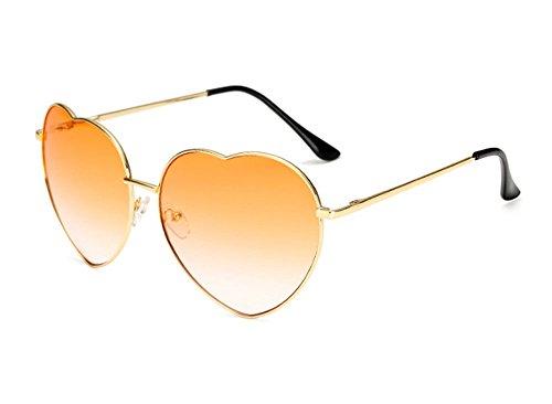 Lunettes Orange de coeur soleil rétro polarisé Huateng en de Glasses Lens forme Classique Gradient qOwpU10
