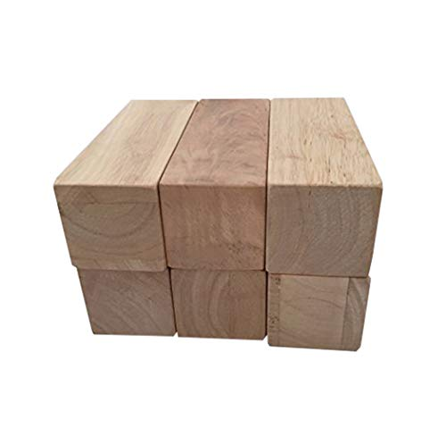 Sustainable Things Solid Hard Wood Blocks- 5 1/4 Inches Long By 2 Inches Wide - Pack of 6 By Sustainable Things price tips cheap