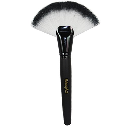 MakeupAcc® Unique Makeup Large Fan Goat Hair Blush Face Powder Foundation Cosmetic Brush