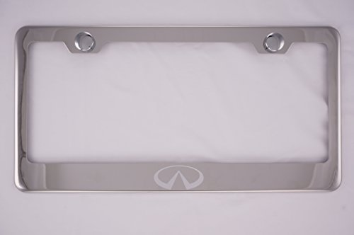 Fit Infiniti Chrome License Plate Frame with Cap (Stainless Steel)