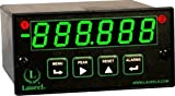 Laurel Electronics L51001QD Quadrature Meter for Position, Six Green LED Digits, 10-48 Vdc Power, Two Isolated Analog Outputs, RS232 Data I/O
