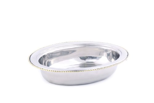 Safe Oval Pan Fry Dishwasher (Old Dutch FP8812 Oval Stainless Steel Food Pan, 6-Quart)