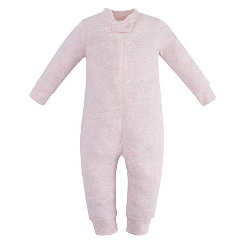 - Owlivia Organic Cotton Baby Boy Girl Zip up Sleep N Play, Footless, Long Sleeve(18-24Months, Pink Melange)