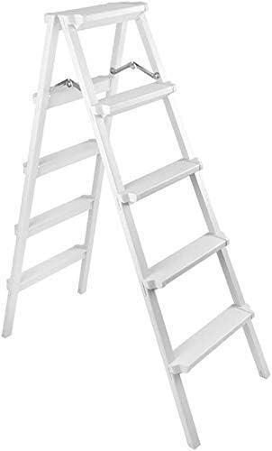 YZjk Taburete Plegable fácil y Multifuncional, Taburete con Escalera Taburete de 5 escalones Escalera Ligera de ingeniería portátil Taburete con Escalera de aleación de Aluminio, Blanco: Amazon.es: Hogar