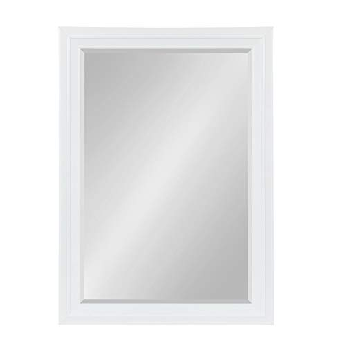Kate and Laurel Whitley Framed Wall Mirror, 29.5x41.5, White (White Large Mirror)