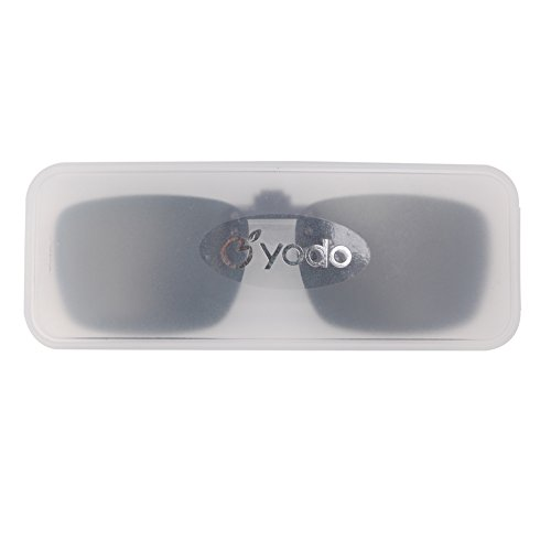 bc1ed795abd yodo Upgraded Polarized Flip up Clip on Sunglasses Over - Import It All