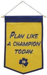 Winning Streak NCAA Notre Dame Fighting Irish 64237 Sports Fan Home Decor, Gold, Banner