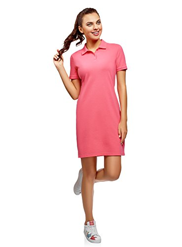 Dress 4d00n Ultra polo Pique Fabric Woman Pink Oodji gfwvBq