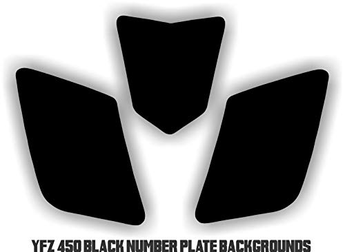 (YFZ 450 Black Number Plate Backgrounds Graphics decals sticker)