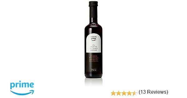 Marca Amazon - WICKEDLY PRIME VINAGRE ORGÁNICO DE VINO TINTO: Amazon.es: Alimentación y bebidas