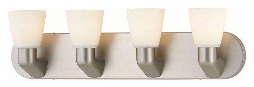 Lite Source LS-16834SS/FRO Taza 4-Lite Vanity Wall Lamp, Satin (Lite Source Satin Ceiling Lamp)