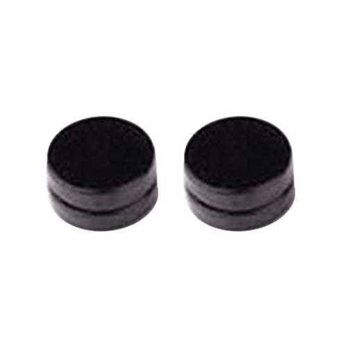 1 Pair Unisex Black Round Magnetic Ear Studs No-Piercing Clip on Earrings Jewellery Gift - 10mm SoundsBeauty