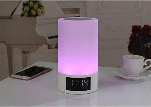 xingganglengyin Wireless Bluetooth Speaker Smart LED Bedside Light Touch Colorful Light with Alarm Clock Display Subwoofer by xingganglengyin (Image #5)