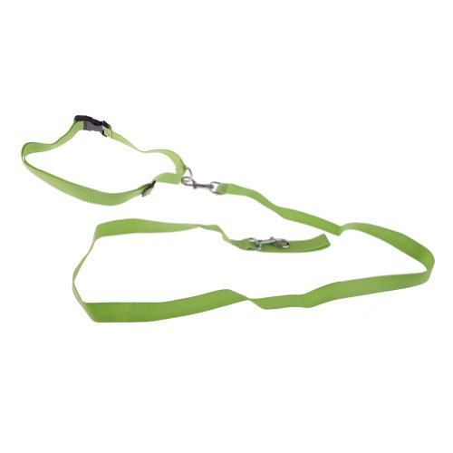 Neewer Jogging Walking Running Nylon Green Color Adjustable Pet Control Hands-free Leash with Waist Belt for Pet Dogs