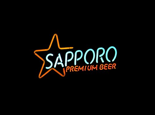 Home Comforts LAMINATED POSTER Alcohol Sapporo Neon Bar Beer
