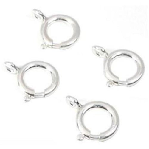 4 Spring Ring Clasps Sterling Silver Findings ()