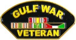 Gulf War Veteran Patch Lapel or Hat Pin