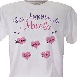 Angelitos de mi Corazon Camiseta o Playera Personalizada