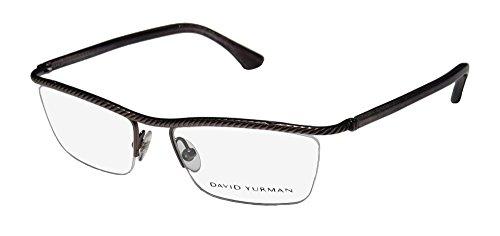 David Yurman Designer Eyeglasses DY043-00 in Gunmetal 53mm DEMO - Eyeglasses David