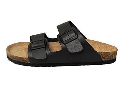 sports shoes 7298e b6a66 Herren Komfort Bio Pantoletten Tieffußpantoletten Leder Sandalen Kork Clogs  Blau Schlappen Latschen 41 42 43 44 45