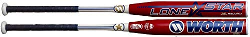 (Worth 2019 WLNSTU 34/26.5 Lone Star XL Reload USSSA Softball Bat 12.5