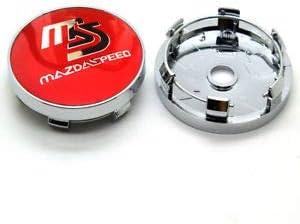 kil1 MS MAZDASPEED Wheel Center Hub Caps Red for Mazda 2 3 6 RX8 Miata MX5 60MM