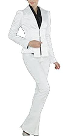 Ladies Tops White Slim Fit Small Suit Outwear Long Sleeve Bowknot Covered Button