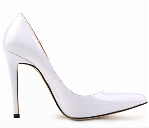 heels large female party shoes high Patent leather wedding heels 42 yards high dress banquet shoes Pointed 37 ZCH PaqwdO0n1P
