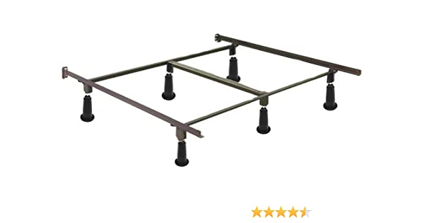 Amazon Com High Rise Metal Bed Frame With Headboard Brackets King