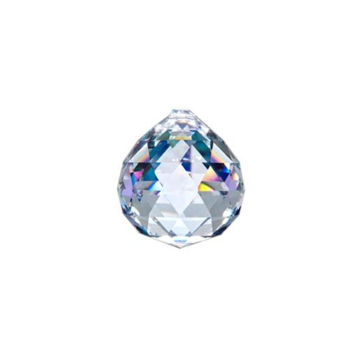 Asfour Crystal 701 Clear Crystal Ball Prism, 40 mm, 1 Hole , Box of 40 Pieces