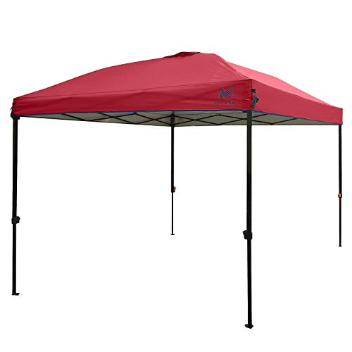 MOLA NOA 10ft x 10ft Instant Set Up Canopy with Wheeled Carry Bag (Red)