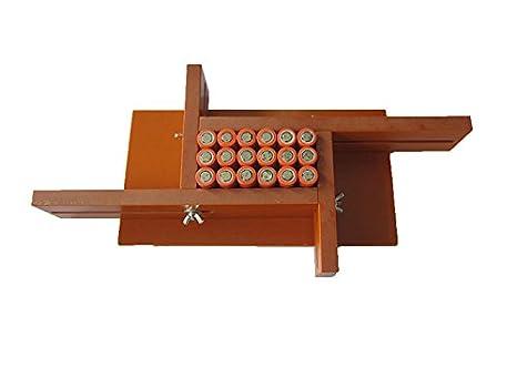CGOLDENWALL - Soporte de batería de iones de litio ajustable, flexible y personalizable para soldador de batería 18650.26650.18490 6x13: Amazon.es: ...