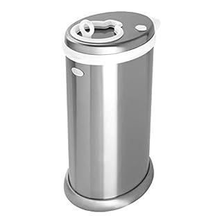 Ubbi Steel Odor Locking, No Special Bag Required, Money Saving, Modern Design, Registry Must-Have Diaper Pail, Chrome