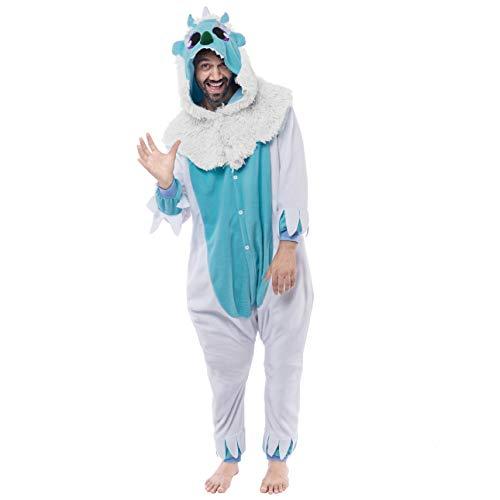Spooktacular Creations Unisex Adult Pajama Plush Onesie One Piece Yeti Animal Costume -