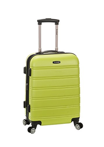 Green Suitcase (Rockland Melbourne 20 Inch Expandable Abs Carry On Luggage, Lime, One Size)