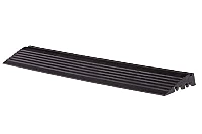 Swisstrax (A504.031.400-9) Ribtrax Modular Flooring Tile, Pegged Edge, Jet Black - (Pack of 9)
