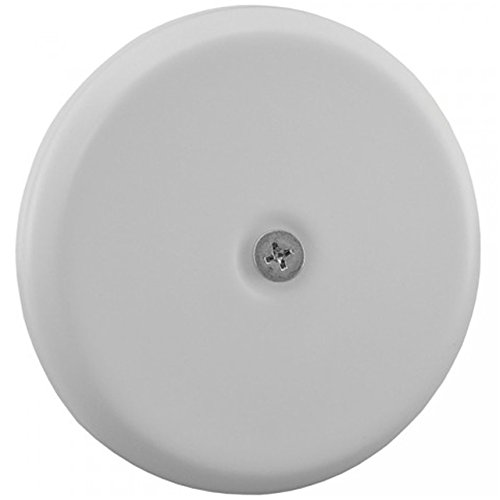 """Jones Stephens C95005 High Impact Plastic 5 1/4"""" Flat Design Cleanout Cover Plate, Small, White"""