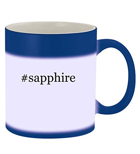 (#sapphire - 11oz Hashtag Magic Color Changing Mug,)