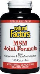 Natural Factors MSM Joint Formula Capsules, 180-Count