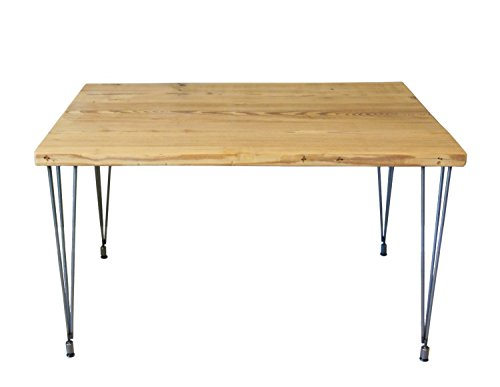Table, Kitchen Table, Dining Table, Reclaimed Wood Dining Table with Steel Hairpin Legs